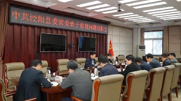 泾阳召开县委常委班子检视问题剖析会
