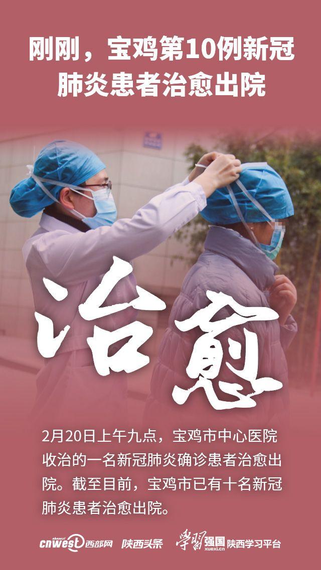 刚刚,宝鸡第10例新冠肺炎患者治愈出院 患者:喜乐的心也是良药