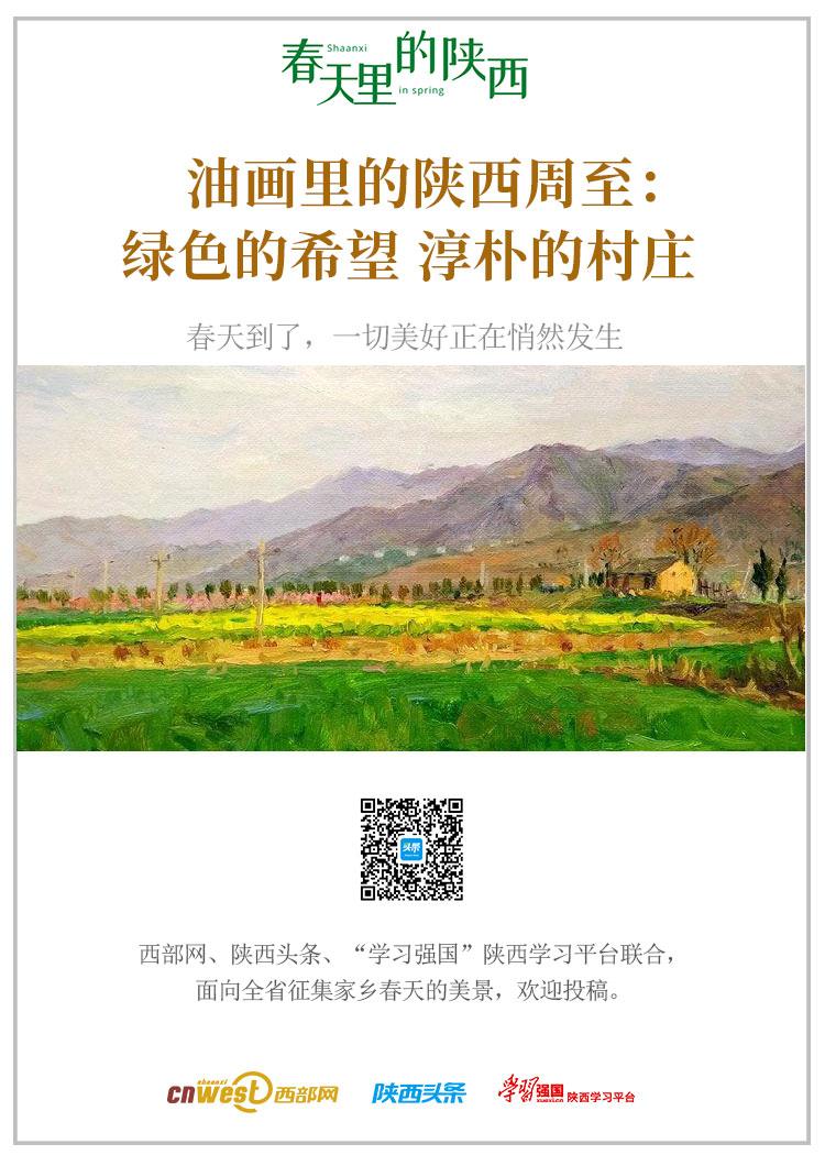 春天里的陕西丨油画里的陕西周至:绿色的希望 淳朴的村庄