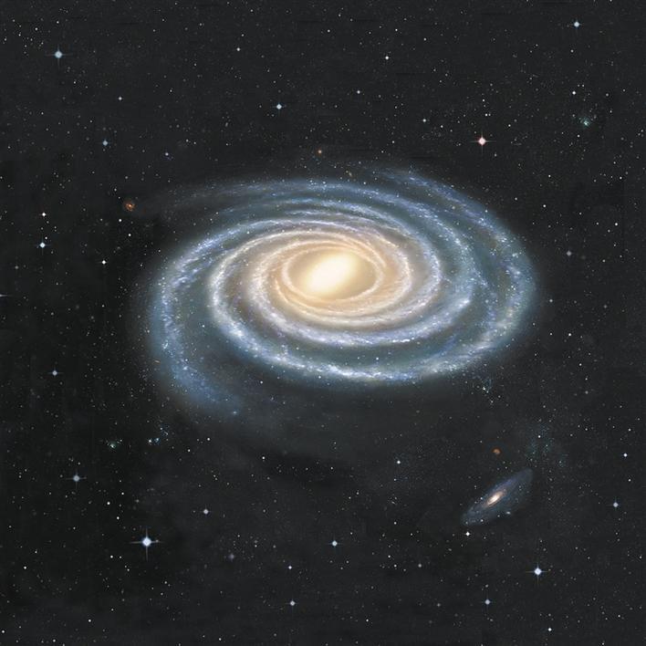 中外联合团队绘制出目前最精确的银河系结构图