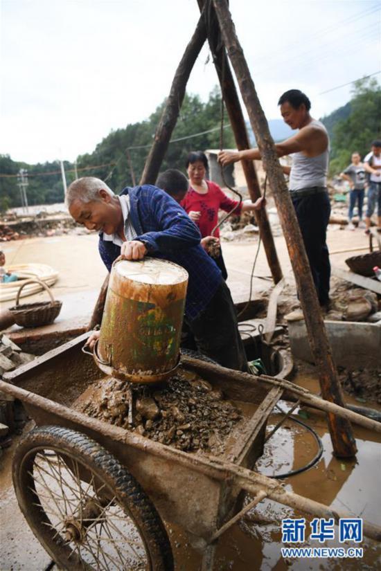 (防汛抗洪)(4)陕西洛南:山洪过后忙自救