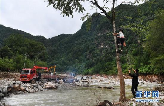(防汛抗洪)(2)陕西洛南:山洪过后忙自救