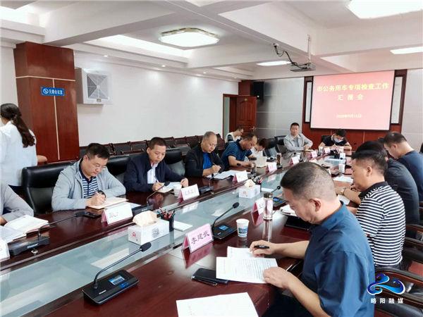 汉中市检查组对略阳公务用车情况