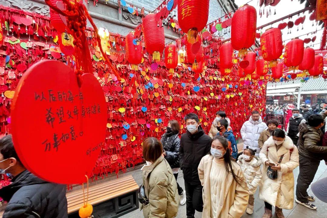 元旦假期 西安人氣滿滿