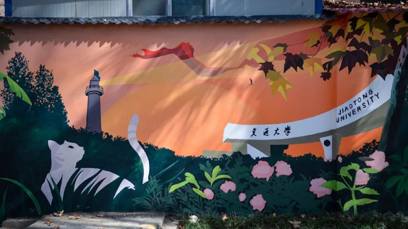 在西安街头 与艺术邂逅……