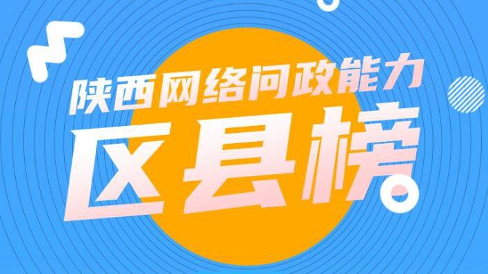 陕西网络问政能力2月区县榜:45个区县回复率100%  3区县零回复