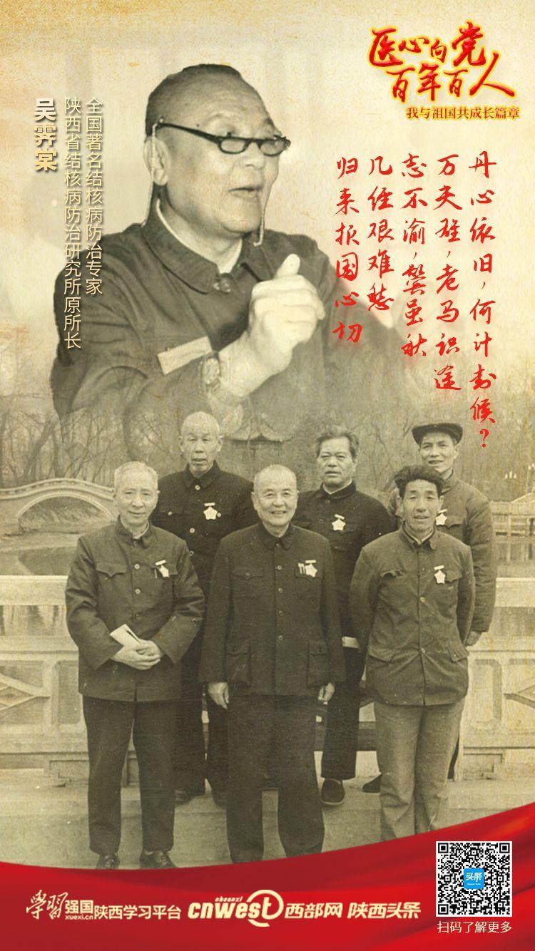海报丨吴霁棠:把毕生献给了陕西防痨事业