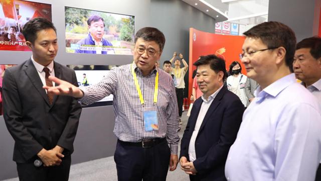 陕西省委宣传部常务副部长王吉德、副部长柯昌万参观陕西广电融媒体集团展厅并指导工作