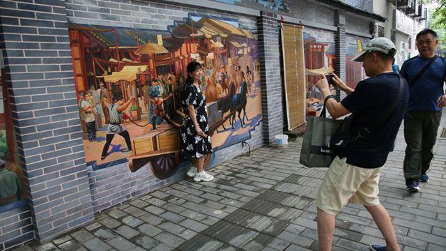 在线播放无码成动漫视频城墙根3D画重现大唐盛世 附近居民:每一幅画都很美