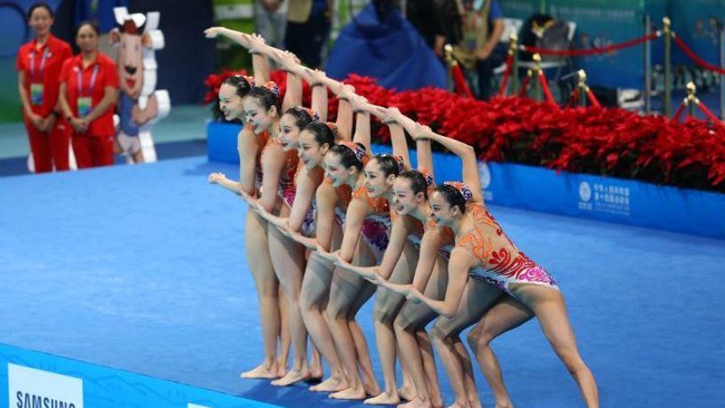 花游奧運聯合隊隊員愛上全運村的陜西油潑面