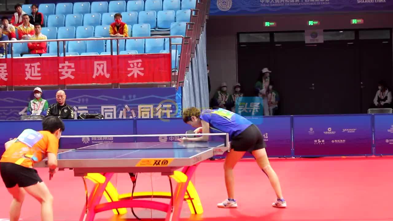 王曼昱夺得全运会乒乓球女单冠军:晋级之路不顺利