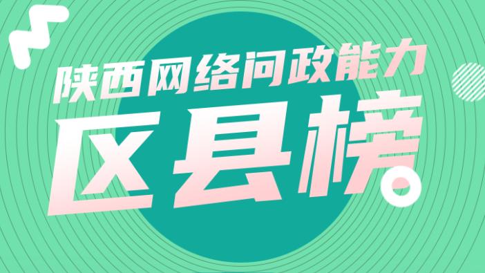 陕西网络问政能力9月区县榜:49个区县回复率100% 未央区位列第一