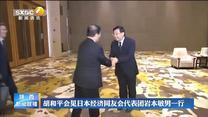胡和平会见日本经济同友会代表团岩本敏男一行