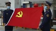 战疫情 党旗飘扬