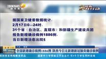 全国新增确诊病例1886例 陕西今日无新增新冠肺炎确诊病例