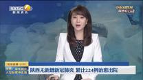 陕西无新增新冠肺炎 累计224例治愈出院