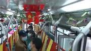 公交车变身灯谜主题车厢